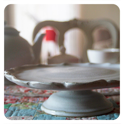 hand-thrown cakestand