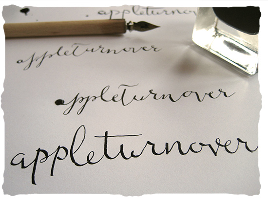 calligraphy with pen & ink