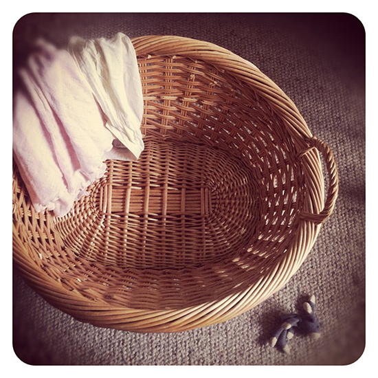 traditional rolled top laundry basket