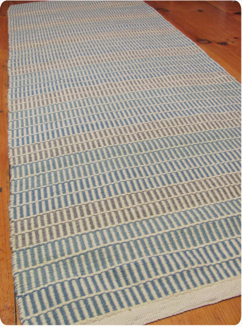 finished pick & pick wool rug