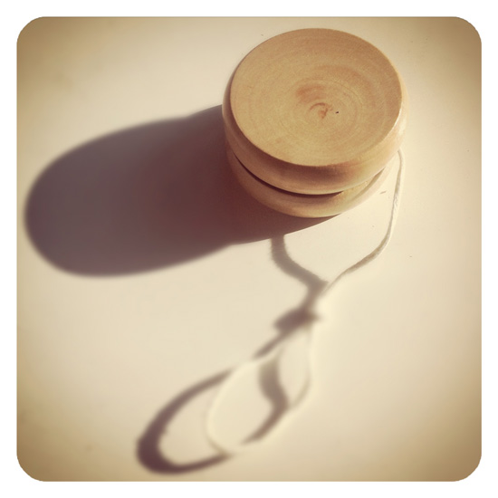 traditional wooden yo-yo