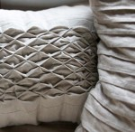 honeycomb smocked cushion © elisa rathje 2012